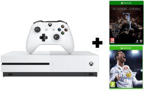 Pack Microsoft XBox One S 500GB + Shadow of War + FIFA 18 + Game Pass 1 mes