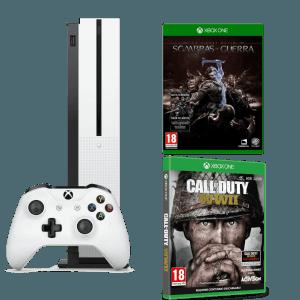 Pack Microsoft Xbox One S 500GB La Tierra Media Sombras de Guerra Call of Duty WWII