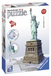 Puzzle 3D diseño Estatua de la libertad de Ravensburger