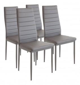 Set de 4 sillas de comedor Albatros 2551 MILANO en color gris