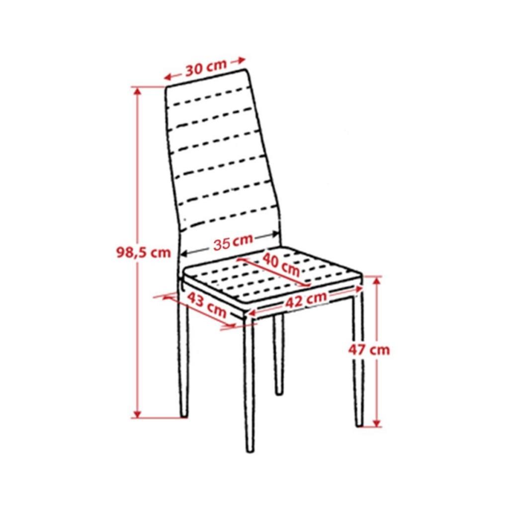 Set de 4 sillas de comedor Albatros MILANO medidas