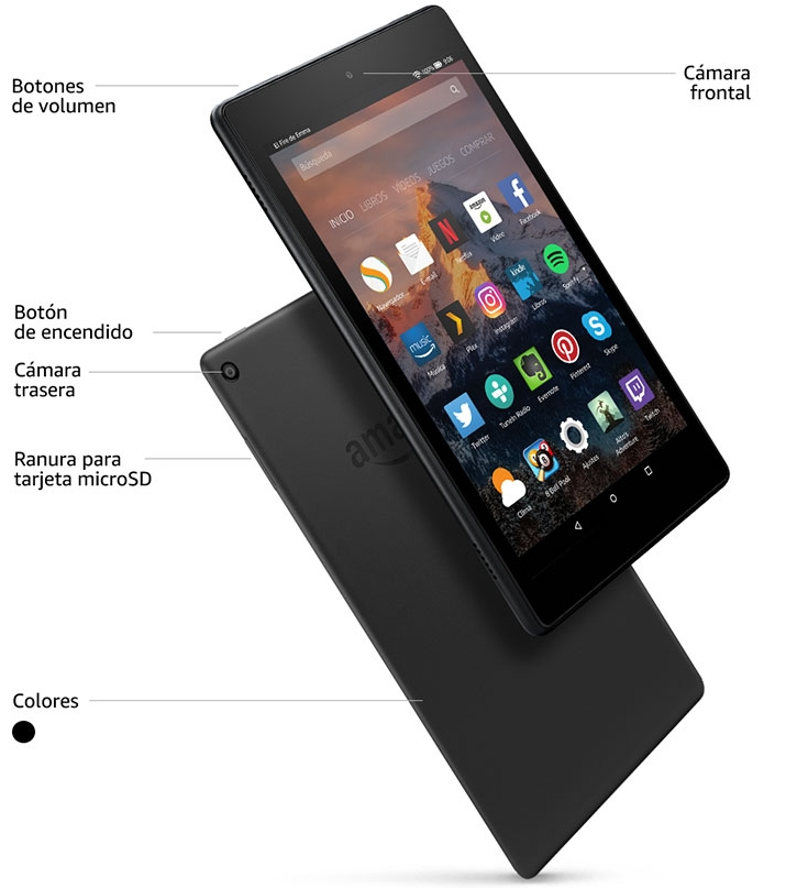 Tablet Fire HD 8 negro