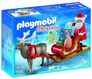 Trineo de Papá Noel con reno Playmobil Navidad 5590