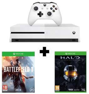 Xbox One S + Halo The Master Chief Collection + Battlefield 1
