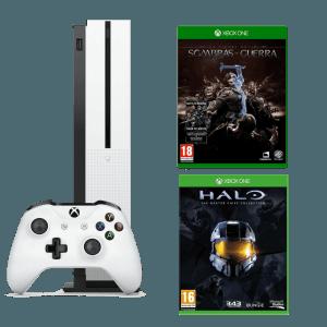 Xbox One S + Halo The Master Chief Collection + La Tierra Media Sombras de Guerra