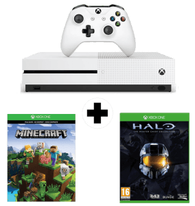 Xbox One S + Halo The Master Chief Collection + Minecraft Complete Adventure