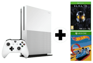 Xbox One S + Halo The Master Chief Collection + Minecraft Complete Adventure por 179€