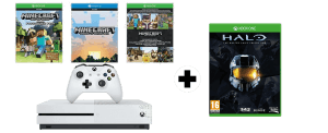 Xbox One S + Halo The Master Chief Collection + Pack Minecraft