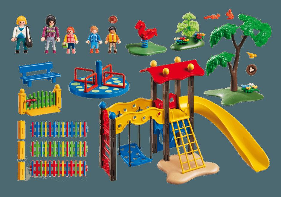 Zona de juegos infantil Playmobil City Life 5568 contenido