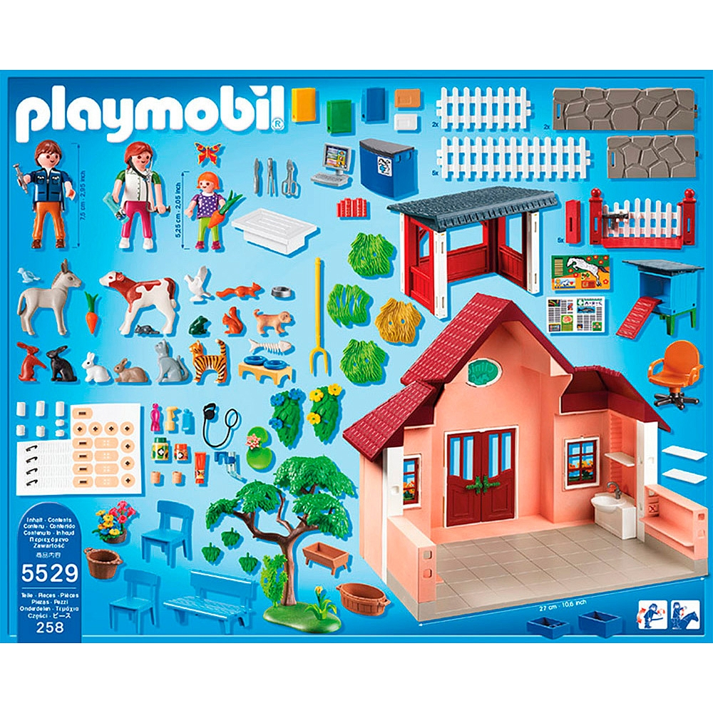 Clínica veterinaria Playmobil 5529 contenido