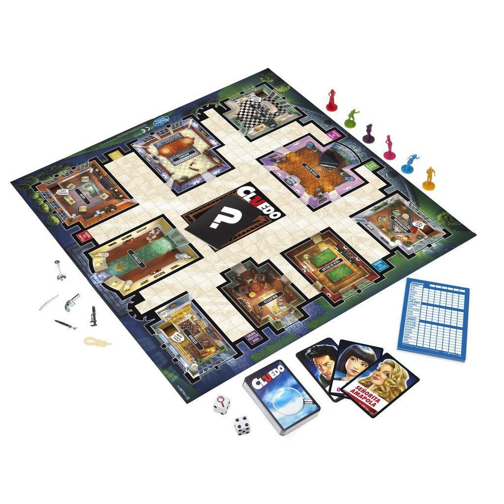 Juego de mesa Cluedo de Hasbro tablero