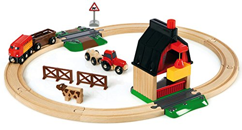 Set circuito tren con granja Brio 33719