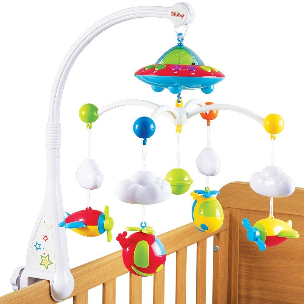 M vil para cuna de nuby colorido con luces y sonido - Movil para cuna bebe ...