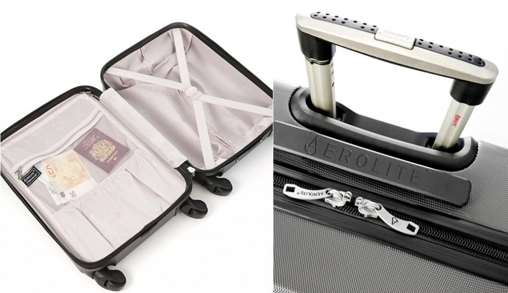 Maleta de equipaje de mano Aerolite detalles