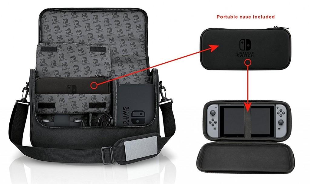 Bolsa de transporte Power A para Nintendo Switch interior