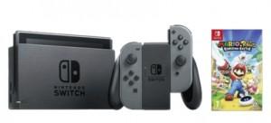 Consola Nintendo Switch on los con los mandos Joy-Con en gris