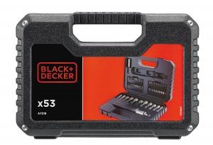 Juego de 53 piezas para atornillar con atornillador de carraca Black and Decker A7218
