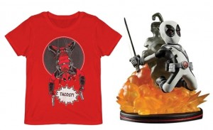 Pack Camiseta + Figura Q-Fig Deadpool
