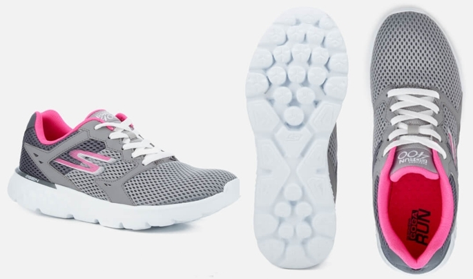 Zapatillas Skechers Go Run 400 gris rosa