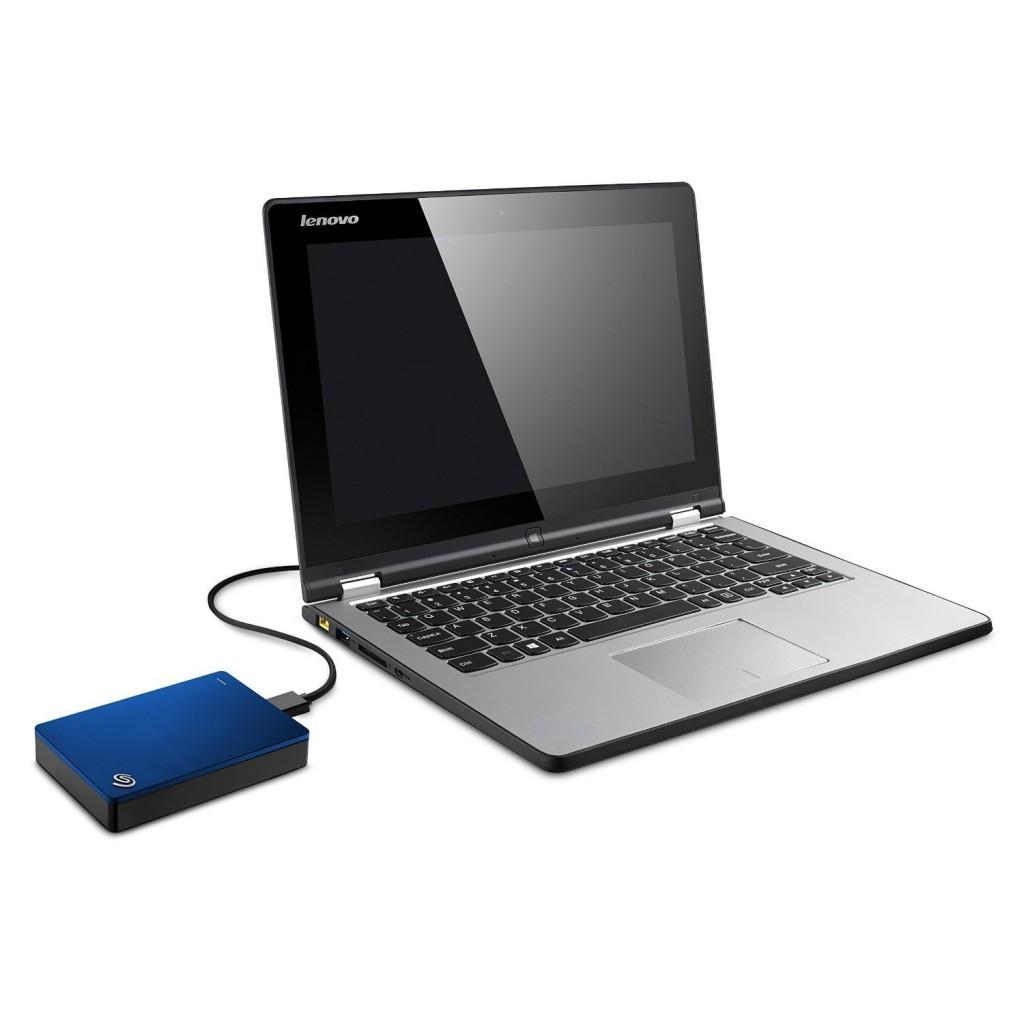 Disco duro externo Seagate Backup Plus Slim de 5 TB color azul