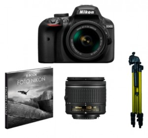 Kit Cámara Réflex Nikon KIT D3400 + Objetivo AFP DX 18-55 mm F3.5-5.6G