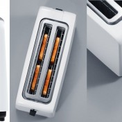 Tostadora AmazonBasics para 4 rebanadas blanca