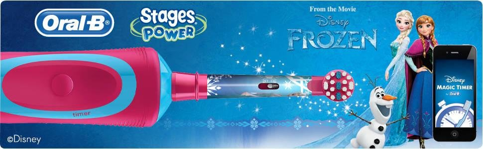 Cepillo de dientes eléctrico Oral-B Stages Power Kids diseño Frozen de Disney