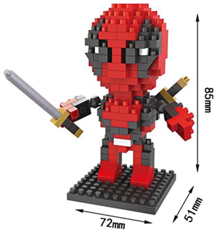 Figura de construcción Deadpool