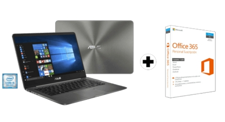 Pack Ordendor portátil Asus UX430UA-GV265T y Office 365 Personal