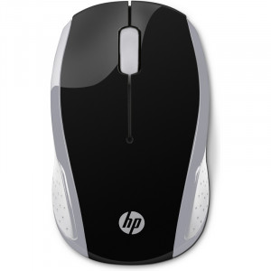 HP 100 Black Wireless Mouse, Top View