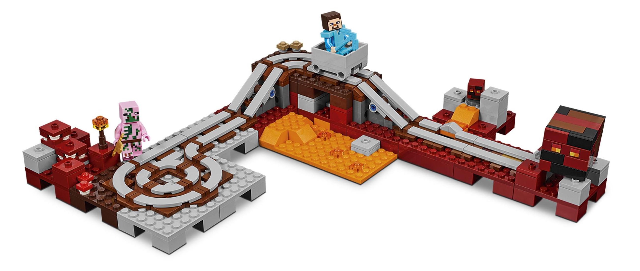 Tren del infierno de Lego Minecraft 21130