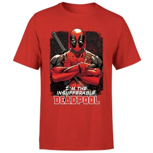 Camiseta Marvel Deadpool Insufferable roja