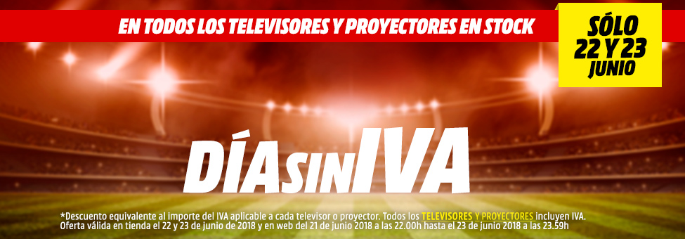 Días sin IVA en todos los televisores y proyectores en Media Markt