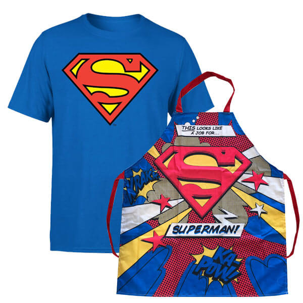 Pack Superman Camiseta + Delantal DC Comics