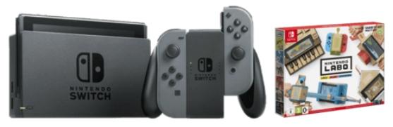Pack consola Nintendo Switch + Nintendo Labo Toy-Con Kit variado gris