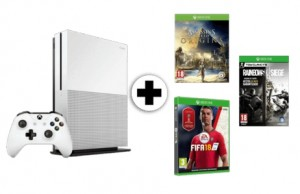 Pack consola Xbox One S 1 TB Assassins Creed Origins Rainbow Six Siege