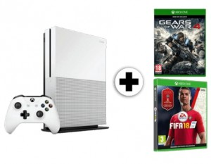 Pack consola Xbox One S 1 TB + juego FIFA 18 + Gears of War 4