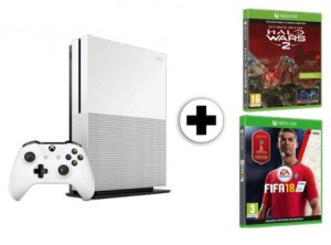 Pack consola Xbox One S 1 TB + juego FIFA 18 + Halo Wars 2