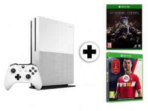 Pack consola Xbox One S 1 TB + juego FIFA 18 + La Tierra Media Sombras de Guerra