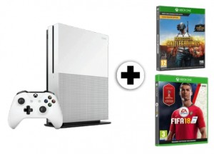 Pack consola Xbox One S 1 TB + juego FIFA 18 + Playerunknown's Battlegrounds