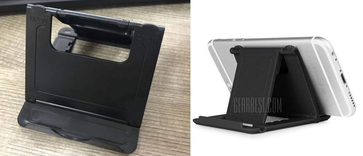 Soporte de mesa plegable para el teléfono móvil