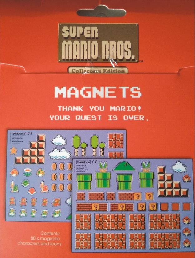 Pack con 80 imanes para nevera de Super Mario Bros de Paladone
