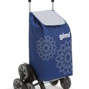 Carrito de la compra Gimi Tris Floral de color azul