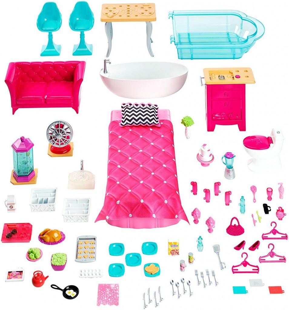 Casa de muñecas Barbie Dreamhouse FFY84 accesorios