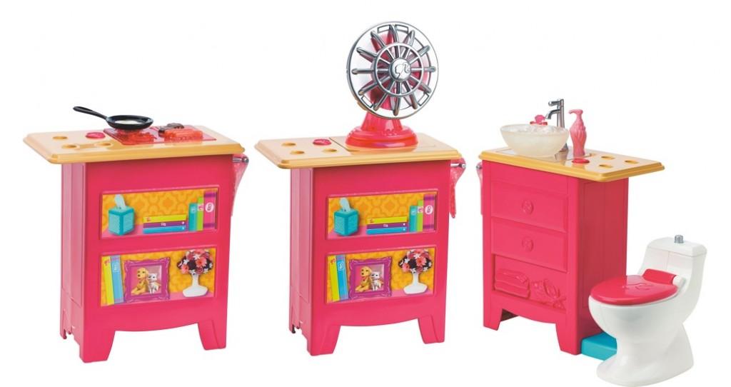 Casa de muñecas Barbie Dreamhouse FFY84 mueble multifunción