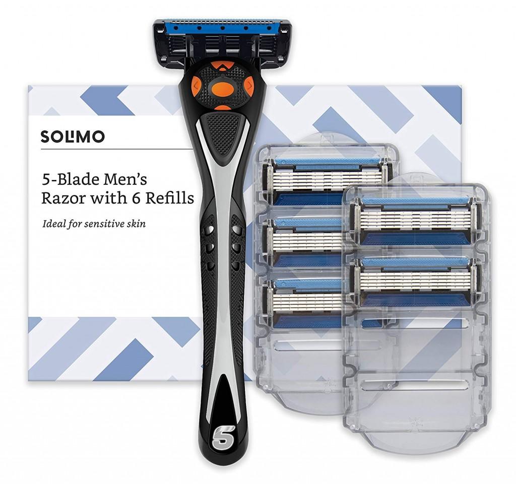 Maquinilla de afeitar Amazon Solimo con seis recambios