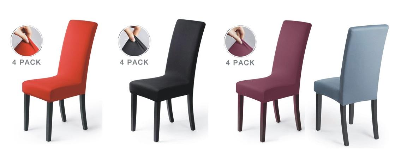 Pack 4 fundas para sillas de comedor ballad varios colores - Fundas asiento sillas comedor ...