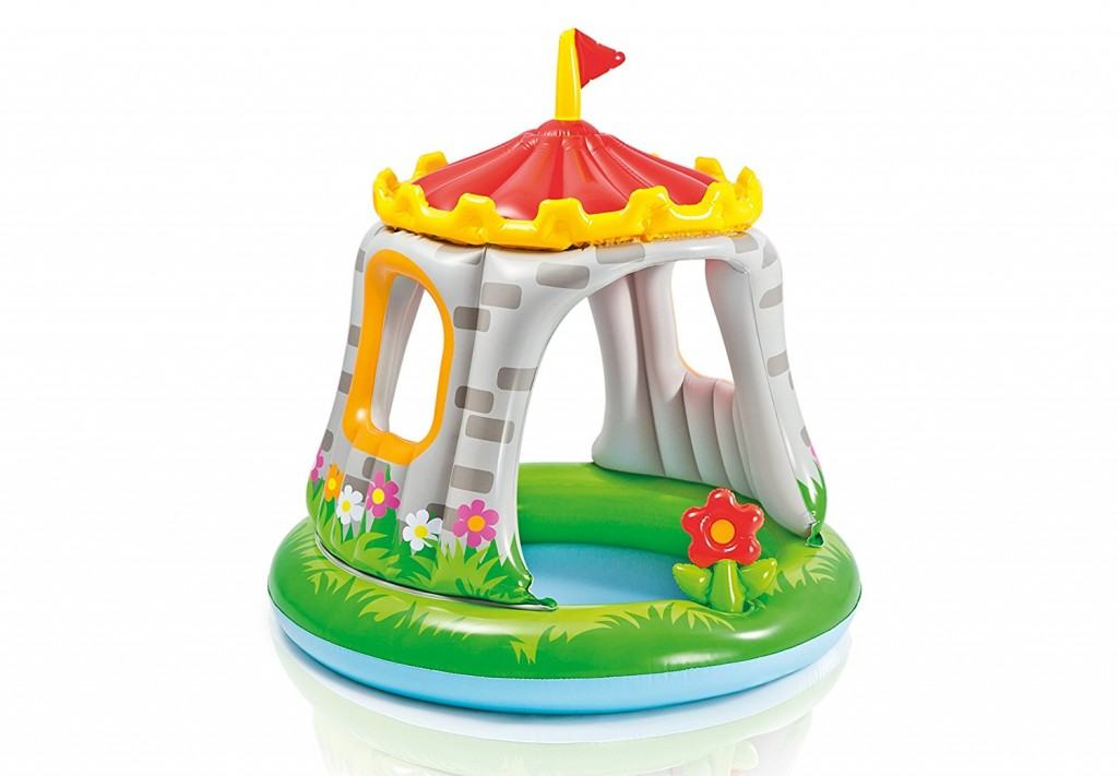 Piscina hinchable con parasol Intex forma de castillo
