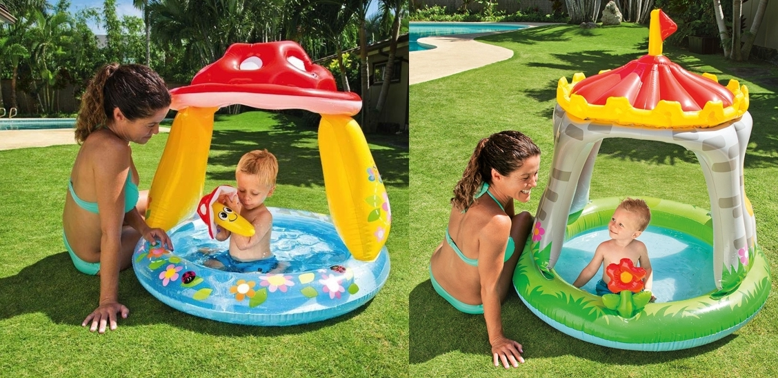 Piscina hinchable infantil Intex con parasol