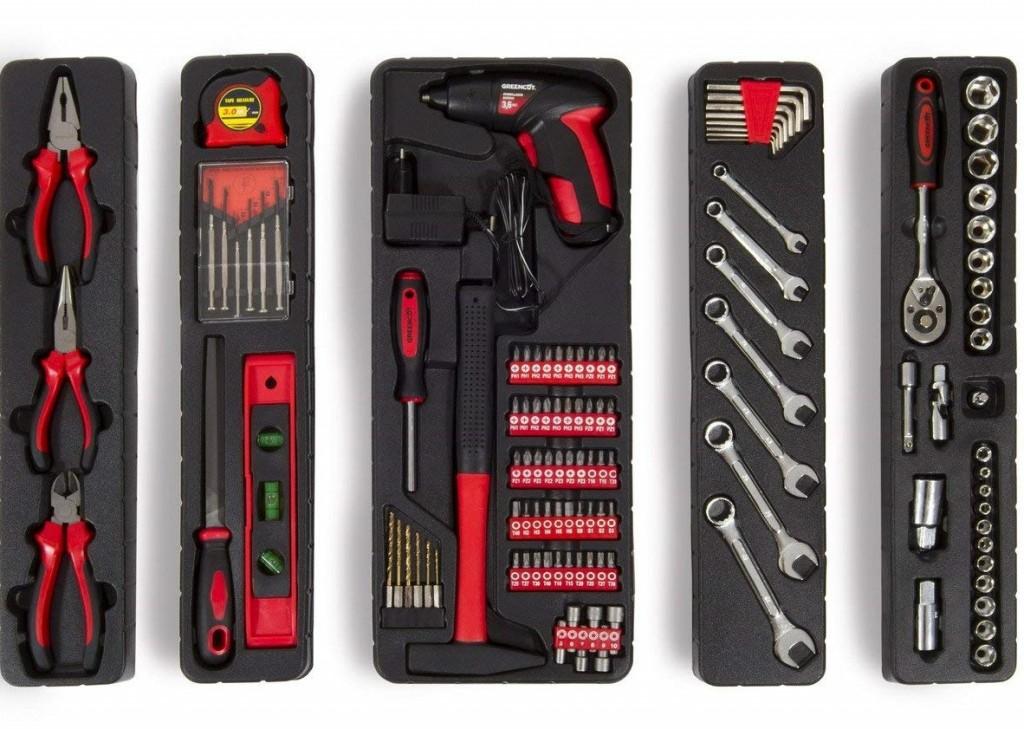 Set de herramientas Greencut TOOLS-118 caja color rojo